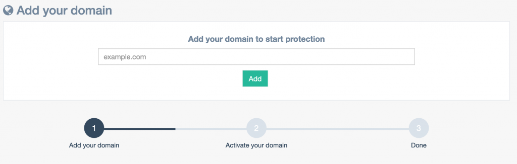 Add your domain under monitoring