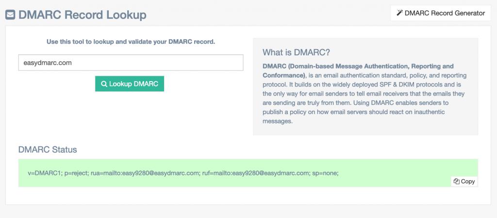 DMARC-record-lookup