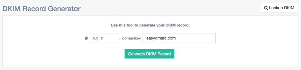 free DKIM record generator