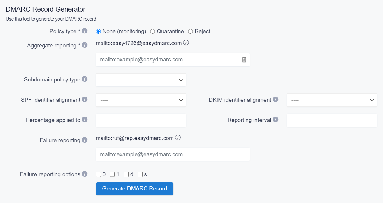 DMARC-Record-Generator-EasyDMARC