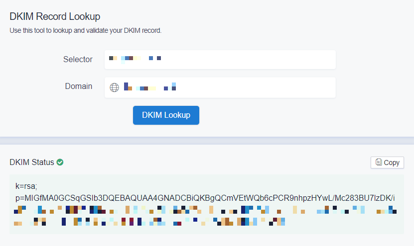DKIM-Lookup-EasyDMARC