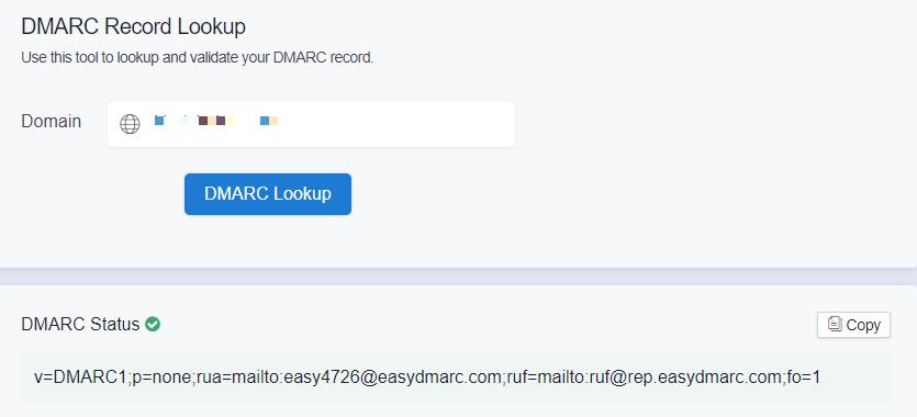 DMARC-Record-Lookup-EasyDMARC