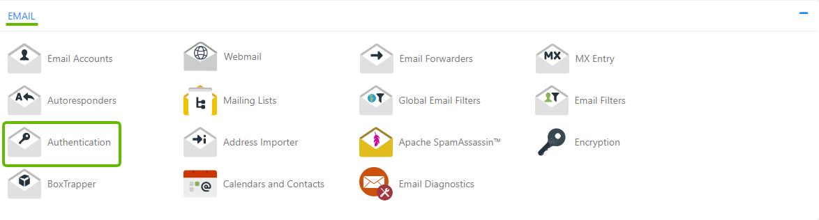 HostGator-cPanel-Authenticaation-SPF-DKIM