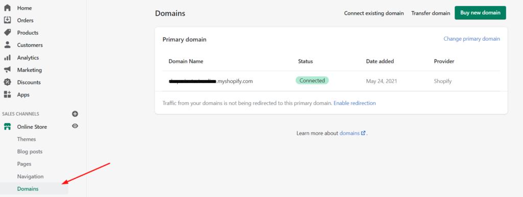 Shopify Domain Set up