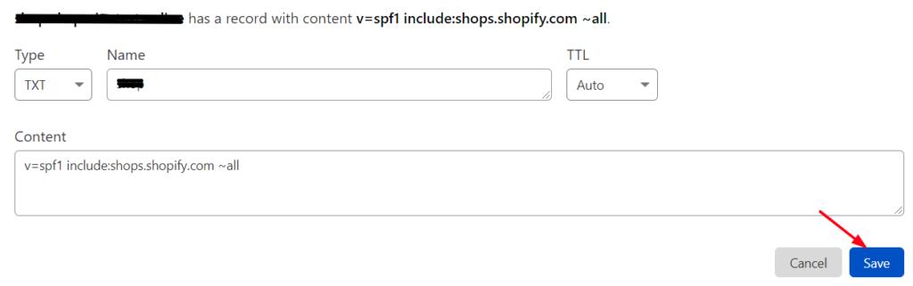 SPF record cloudflare txt setup