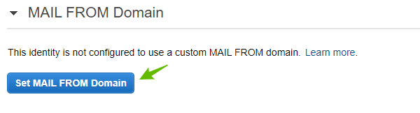 Mail from domain amazonSES