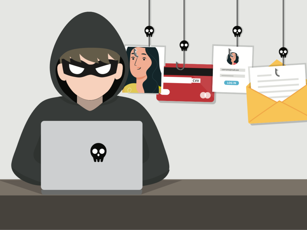 cybercriminal with a phishing email