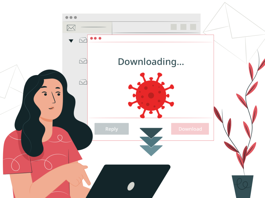 cyber attack victim downloading malware