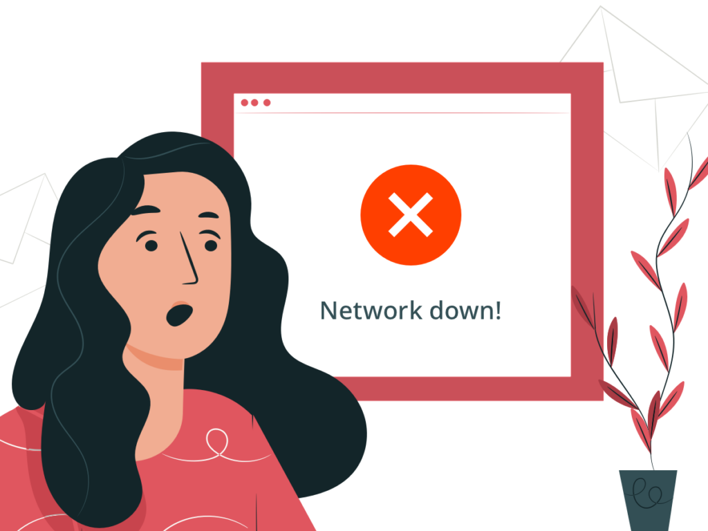network and computer problems after a cyber attack